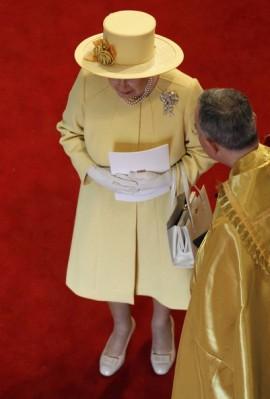 Queen Elizabeth, April 29, 2011 in Angela Kelly |Royal Hats