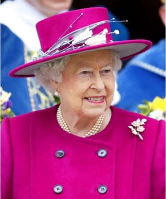 Queen Elizabeth, April 17, 2014 in Angela Kelly |Royal Hats