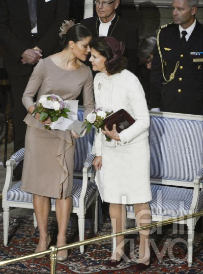 Queen Silvia and Crown Princess Victoria, September 25, 2013 | The Royal Hats Blog