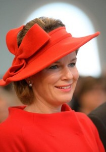 Queen Mathilde, October 19, 2013 in Fabienne Delvigne | The Royal Hats Blog