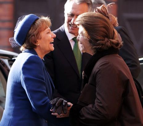 Mrs. Silva and Queen Silvia, October 1, 2013 | The Royal Hats Blog