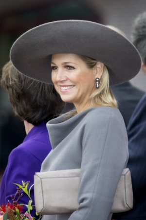Queen Máxima, Oct. 17, 2013 in Fabienne Delvigne | The Royal Hats Blog