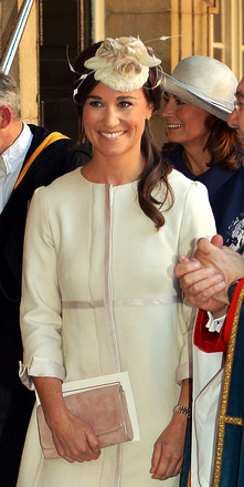 Philippa Middleton in Edwina Ibbotson, Oct 23, 2013 | The Royal Hats Blog
