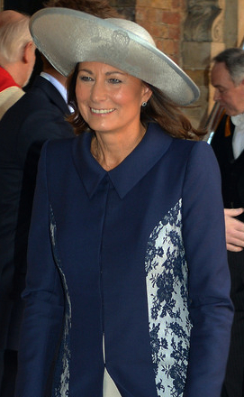 Carole Middleton in Jane Corbett, Oct 23, 2013 | The Royal Hats Blog