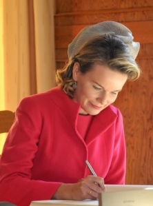 Queen Mathilde, Oct. 23, 2013 in Fabienne Delvigne | The Royal Hats Blog