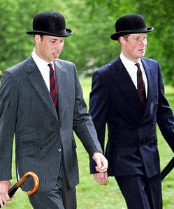 Prince William and Prince Harry, May 13, 2007 | The Royal Hats Blog