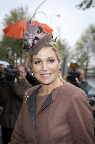 Queen Máxima, Nov 5, 2013 in Fabienne Delvige | The Royal Hats Blog