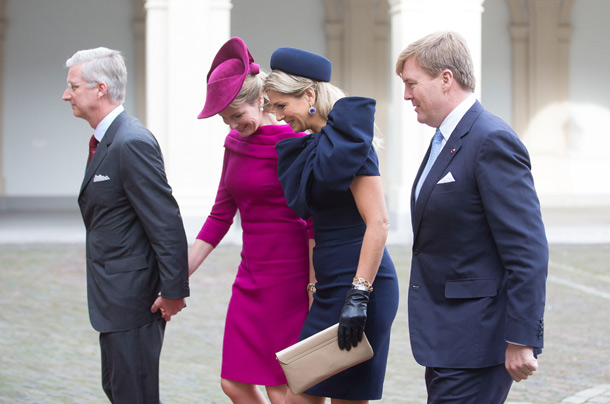 Queen Máxima and Queen Mathilde, Nov. 8, 2013 | The Royal Hats Blog