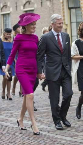 Queen Mathilde, Nov. 8, 2013 in Fabienne Delvigne | The Royal Hats Blog