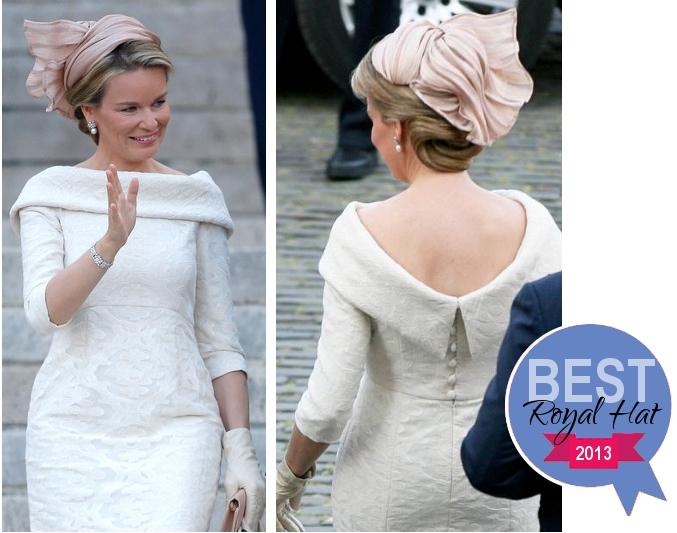 Queen Mathilde, July 21, 2013 in Fabienne Delvigne | The Royal Hats Blog