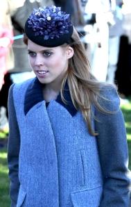 Princess Beatrice, December 25, 2013 in Nerida Fraiman | The Royal Hats Blog