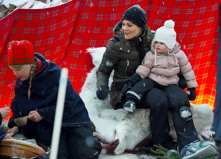 Princess Victoria and Princess Estelle, February 2, 2014 | The Royal Hats Blog
