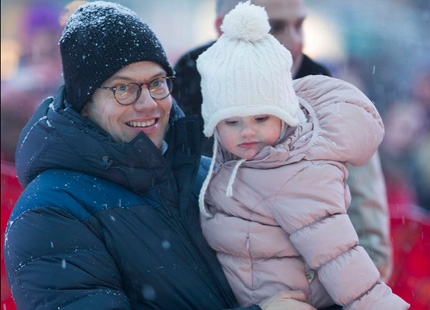 Prince Daniel and Princess Estelle, February 2, 2014 | The Royal Hats Blog