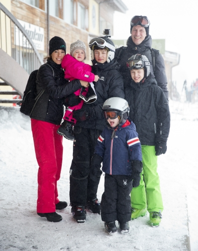 Prince Joachim, Princess Marie & family, February 13, 2014 | The Royal Hats Blog