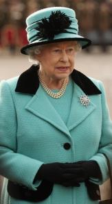 Queen Elizabeth, February 23, 2011 in Rachel Trevor Morgan | The Royal Hats Blog