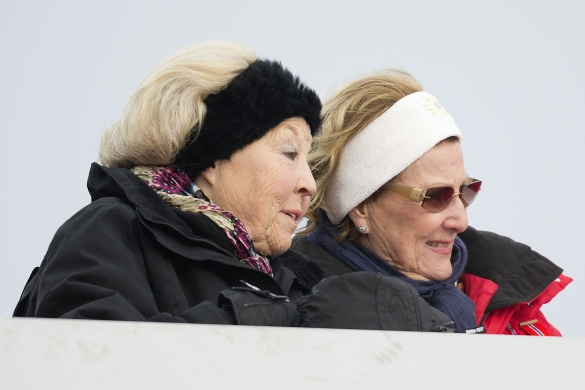 Queen Sonja and Princess Beatrix, March 9, 2014 | The Royal Hats Blog