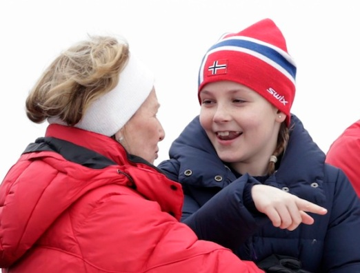 Queen Sonja and Princess Ingrid, March 9, 2014 | The Royal Hats Blog