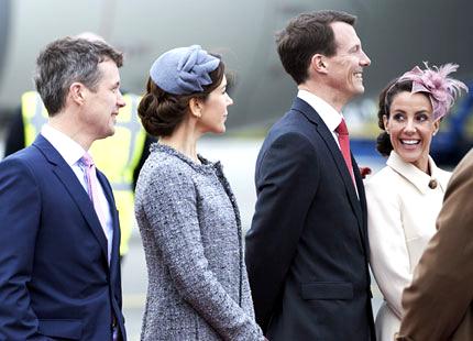 Princess Mary and Princess Marie, March 17, 2014 | The Royal Hats Blog