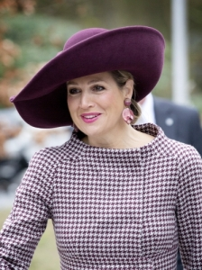 Queen Máxima, March 18, 2014 in Fabienne Delvigne   The Royal Hats Blog