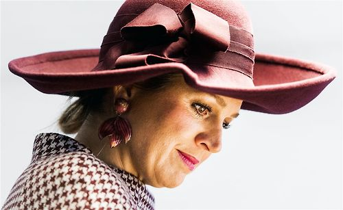 Queen Máxima, March 18, 2014 in Fabienne Delvigne | The Royal Hats Blog