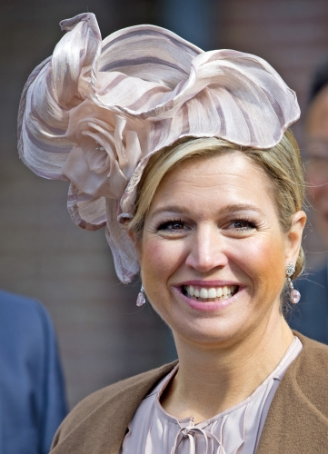 Queen Máxima, March 24, 2014 in Fabienne Delvigne | The Royal Hats Blog