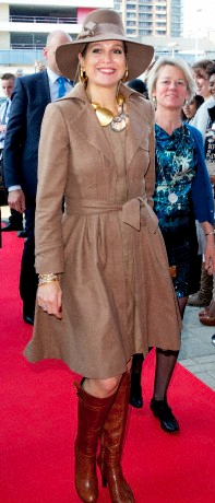Queen Máxima, March 27, 2014 in Fabienne Delvigne   The Royal Hats Blog