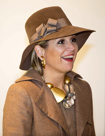 Queen Máxima, March 27, 2014 in Fabienne Delvigne | The Royal Hats Blog