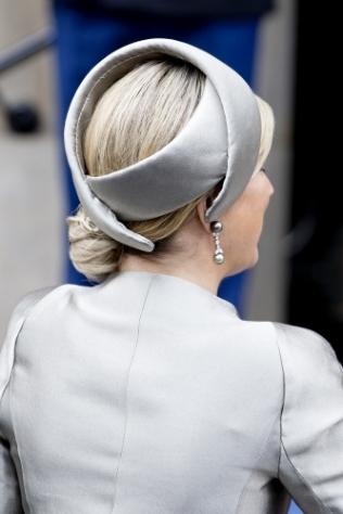 Queen Máxima, April 4, 2014 in Fabienne Delvigne | The Royal Hats Blog
