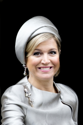 Queen Máxima, April 4, 2014 in Fabienne Delvigne | The Royal Hats Blog