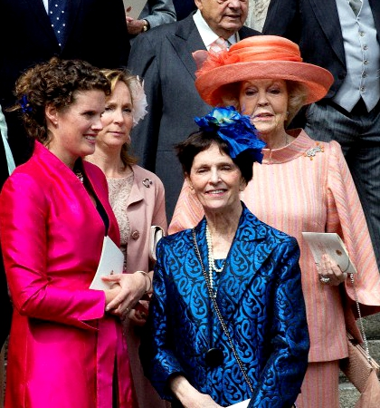 Princess Cecilia of Bourbon-Parma and Princess Beatrix of the Netherlands, April 5, 2014 | The Royal Hats Blog