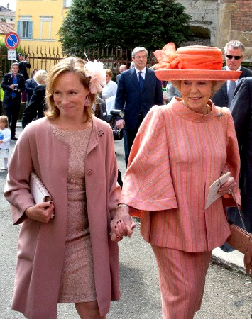 Princess Margarita of Bourbon-Parma and Princess Beatrix of the Netherlands, April 5, 2014 | The Royal Hats Blog
