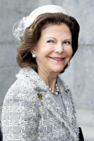 Queen Silvia, April 5, 2014 in Fabienne Delvigne | The Royal Hats Blog