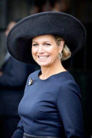 Queen Máxima, April 5, 2014 in Fabienne Delvigne | The Royal Hats Blog