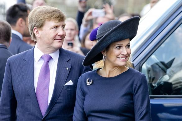 Queen Máxima, April 5, 2014 in Fabienne Delvigne | The Royal Hats Blog