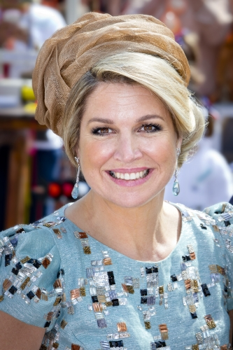 Queen Máxima, April 26, 2014 in Fabienne Delvigne | The Royal Hats Blog