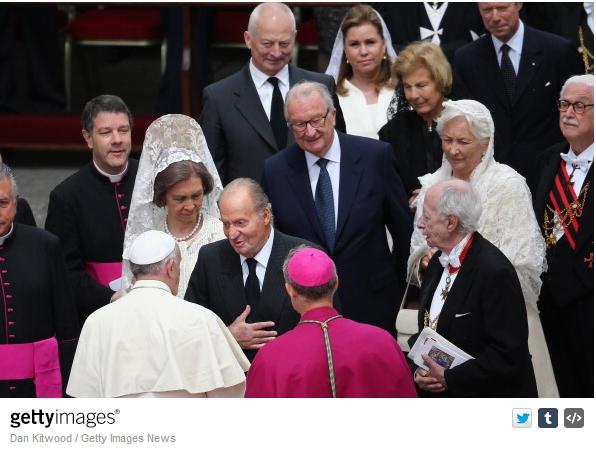 Queen Sofia, Grand Duchess Maria Teresa, Princess Marie, Queen Paola, April 27, 2014 | The Royal Hats Blog