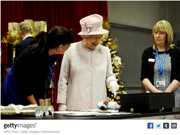 Queen Elizabeth, April 30, 2014 in Angela Kelly | Royal Hats