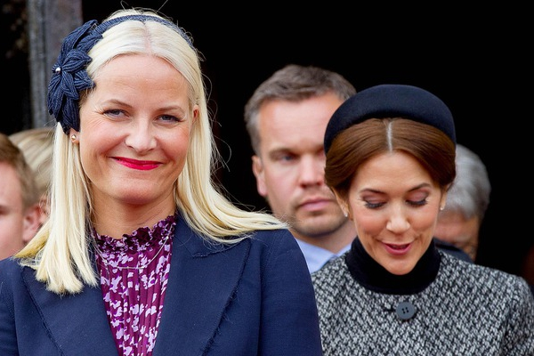 Crown Princess Mette Marit and Crown Princess Mary, May 9, 2014 | Royal Hats