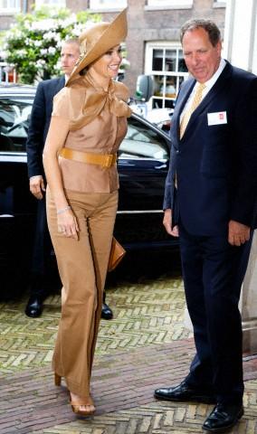 Queen Máxima , May 23, 2014 in Fabienne Delvigne   Royal Hats
