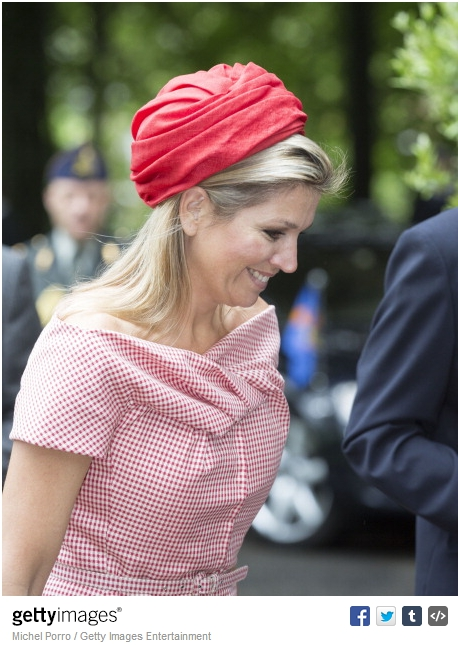 Queen Máxima, May 28, 2014 in Fabienne Delvigne | Royal Hats