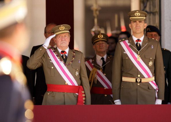 King Juan Carlos and Prince Felipe, June 3, 2014 | Royal Hats