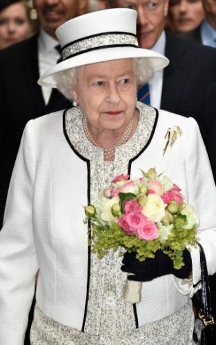 Queen Elizabeth, June 5, 2014 in Angela Kelly   Royal Hats