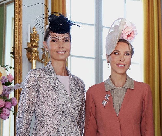 Countess Natascha Abensperg und Traun and Tatjana D'Abo, June 8, 2014 in Philip Treacy | Royal Hats