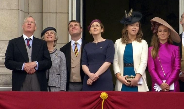 Duchess of Gloucester, Countess of Ulster, Zenouska Mowatt and Amelia Windsor, June 14, 2014 | Royal Hats