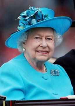 Queen Elizabeth, June 19, 2014 in Rachel Trevor Morgan   Royal Hats