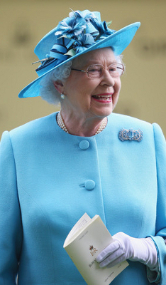 Queen Elizabeth, June 19, 2014 in Rachel Trevor Morgan | Royal Hats