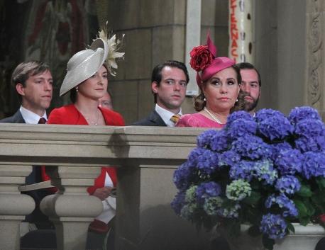 Grand Duchess Maria Teresa and Hereditary Grand Duchess Stéphanie, June 23, 2014 | Royal Hats