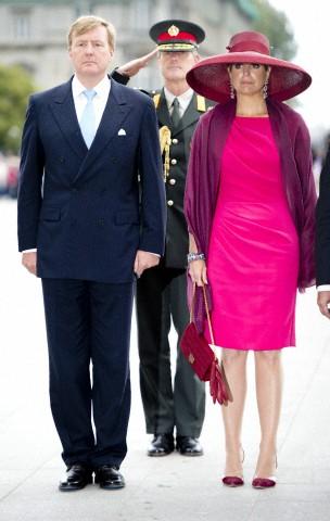 Queen Máxima, June 24, 2014 in Fabienne Delvigne   Royal Hats
