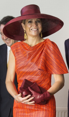 Queen Maxima, May 24, 2014 in Fabienne Delvigne | Royal Hats