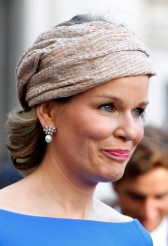 Queen Mathilde, July 5, 2014 in Fabienne Delvigne | Royal Hats